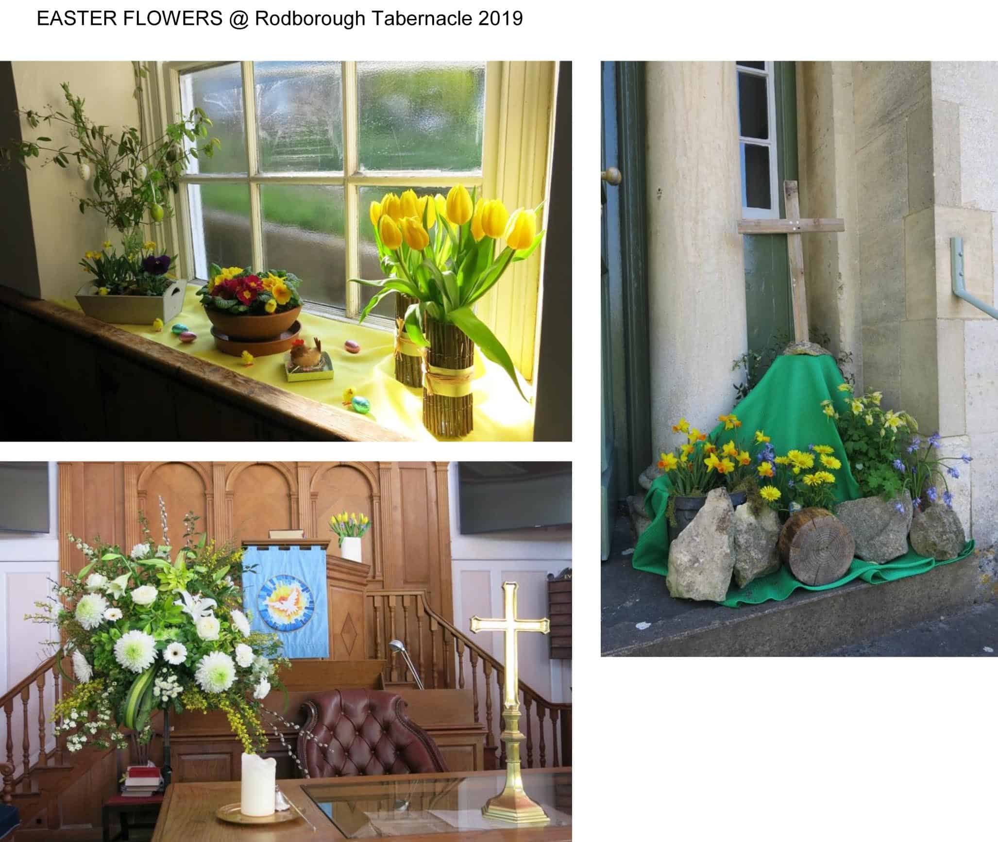 EASTER FLOWERS @ Rodborough Tabernacle 2019
